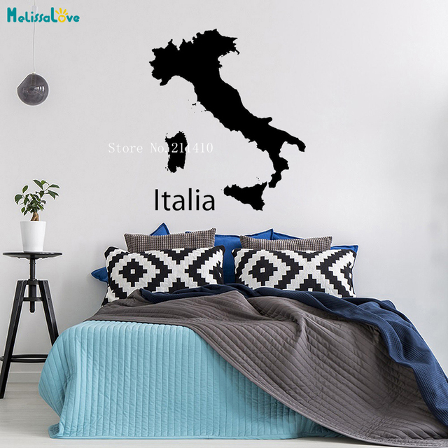 Map Of Italy For Kids.Us 5 98 25 Off Italy Map Wall Sticker Simple Design Pattern Decoration For Student Kids School Office Self Adhesive Nursery Art Decals Yt713 In Wall