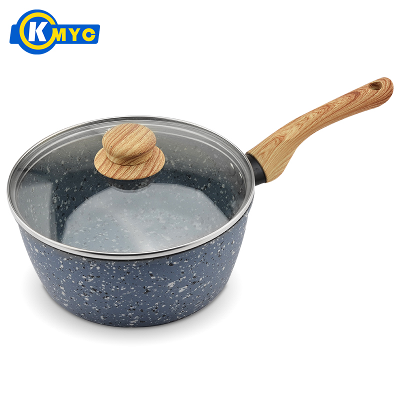 Kmyc Гранит покрытия горшок молока сковорода с антипригарным суп соус pots блин Кастрюли с длинной ручкой для газовых электрическая плита Кухонная посуда