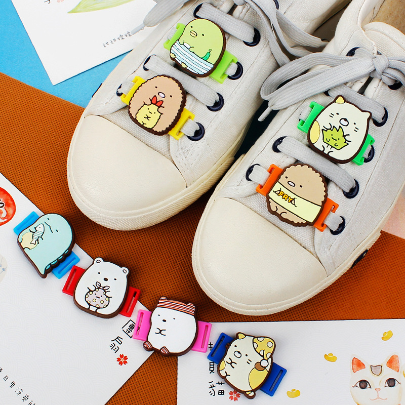AMEK MISA Novelty Cartoon Shoes Decorations Japan Anime SAN-X Casual/Sports Shoe Shoelace Charms Accessories For Kids Gifts M423