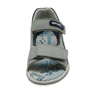 Image 2 - Apakowa erkek hakiki deri sandalet çocuklar burnu açık düz ayakkabı yürümeye başlayan çocuklar için yaz ortopedik plaj sandaletleri kemer desteği ile