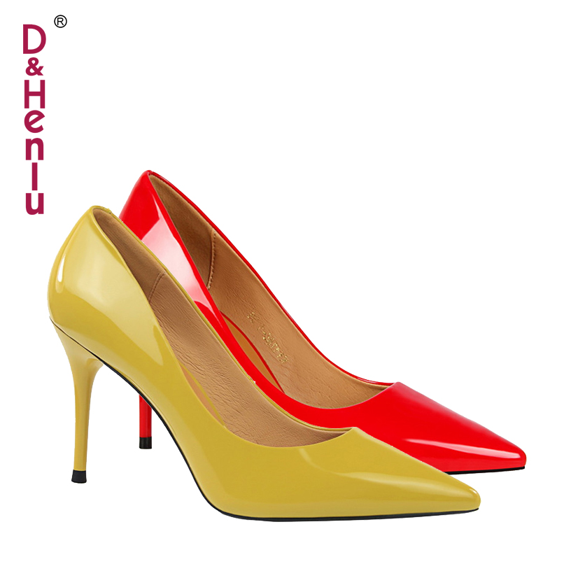 {D&Henlu} 2018 New Basic Women Pumps Sexy Pointed Toe Thin Heel High Heels Glossi Shoes Glitter stiletto Heels Brand Women Shoes hard drive for 4600r 4300r st336705lc 9p6001 302 well tested working 90days warranty page 6
