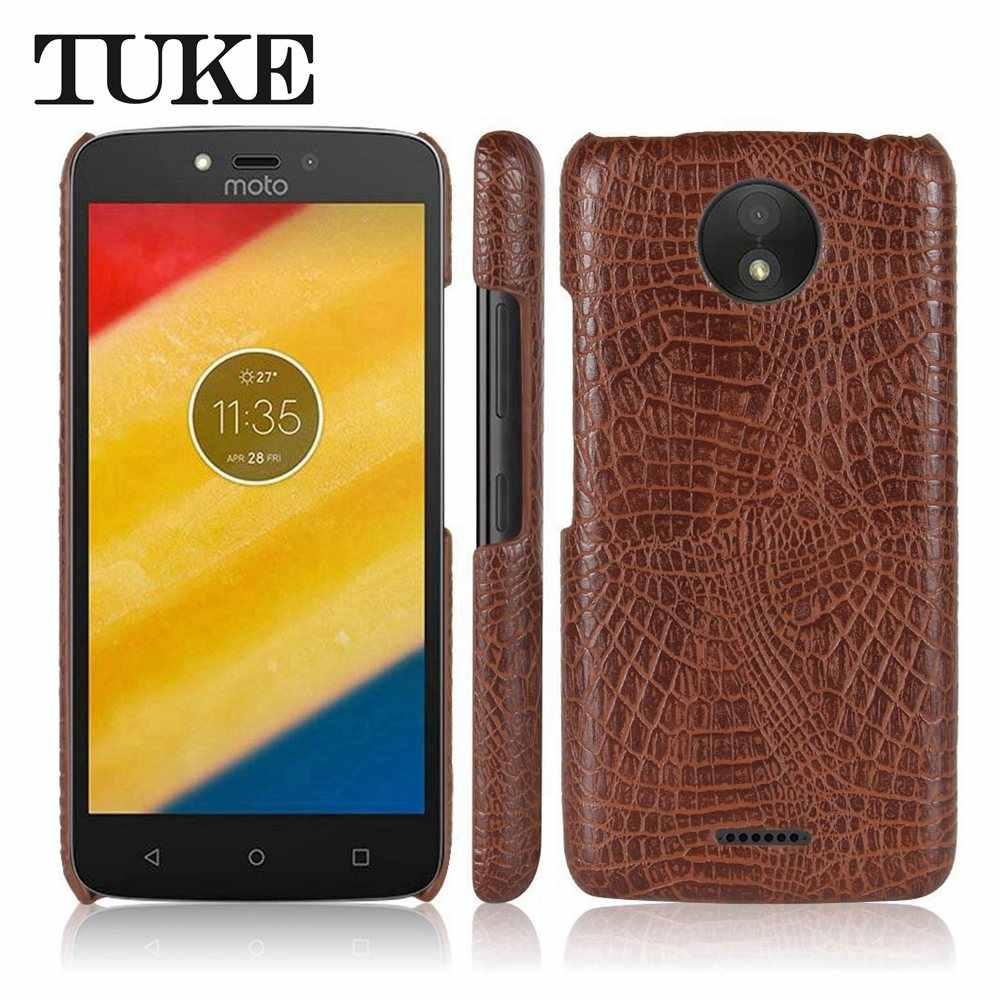 TUKE جراب لهاتف Motorola موتو C C زائد E3 قوة E4 E4 زائد G4/G4 زائد G5 G5 زائد G5s G5s زائد التمساح نمط غطاء من البلاستيك الصلب