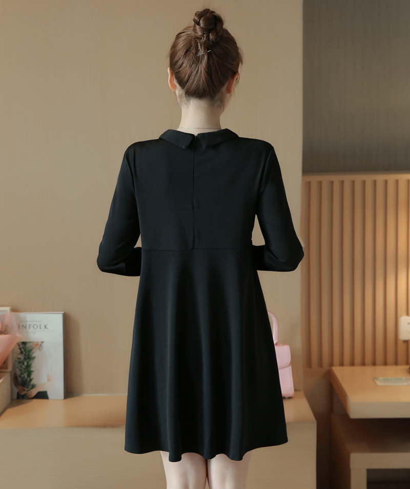 4de2c853fdd 4xl plus big size women clothing 2017 spring summer style autumn korean bow  black new loose casual cute sweet dress female A4414-in Dresses from Women s  ...