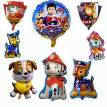 11PCS Lot Paw Patrol Figure Foil Balloons Toy Birthday Room Home Party Decorations Kids Toys Rubble Skye Ryder Paw Patrol Toys