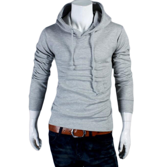 Fashion Men's Hoodie Solid color long sleeve cotton hooded sweatshirt Casual Pullovers Hip hop svitshot for men Plus Size XXXL