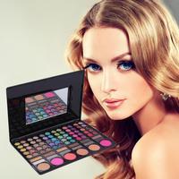 78 Cores Profissional Sombra de Olho Bochecha Blush Lip Gloss Maquiagem conjunto Paleta de Alta Qualidade