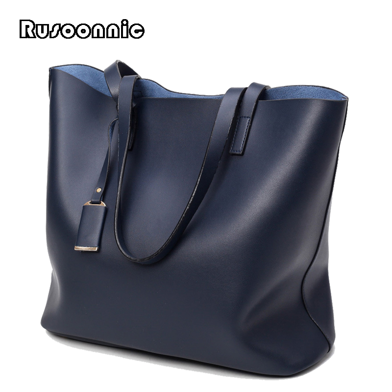 Rusoonnic Ladies Handbags Women Shoulder Bag Casual Tote Messenger Bags  Leather Big Clutch Bag Feminina Bolsas Female new cartoon women messenger bags big eyes bag leather handbags ladies clutch bag bolsa feminina bolsas female handbag 45