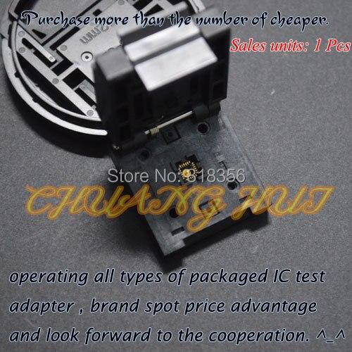 IC TEST Clamshell QFN24 DFN24 MLF24 WSON24 test socket Pitch=0.5mm Size=4mmX4mm