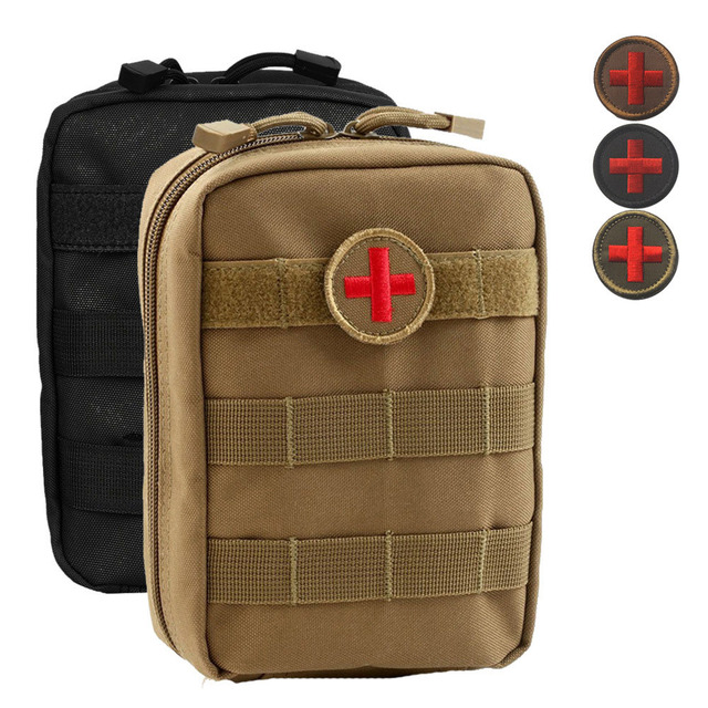 Empty Bag for Emergency Kits Tactical Medical First Aid Kit Military Waist Pack Outdoor Camping Travel Tactical Molle Pouch Mini