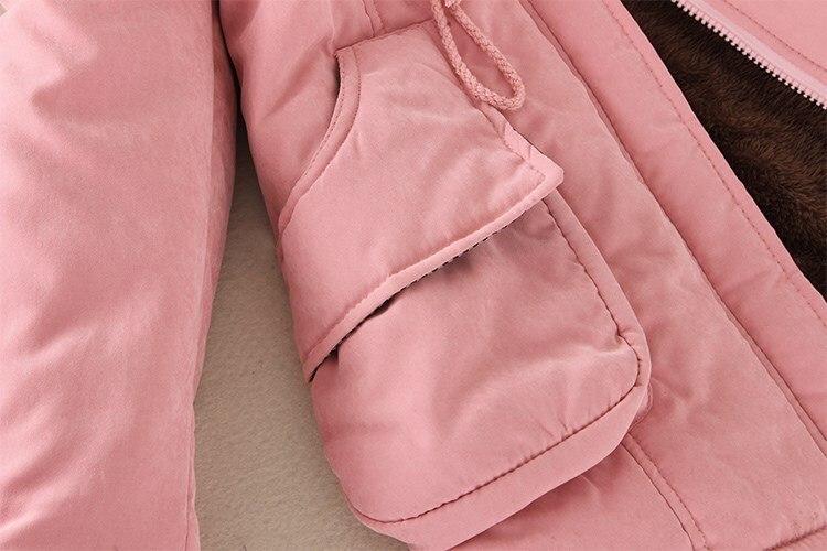 19 Winter New Women's Hooded Fur Collar Waist And Velvet Thick Warm Long Cotton Coat Jacket Coat 25