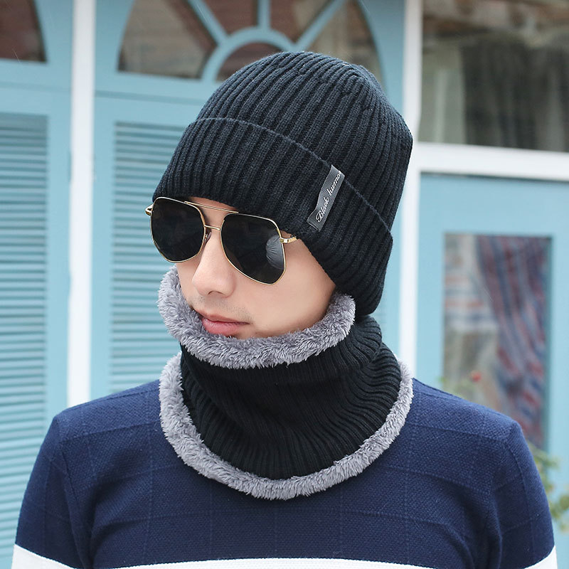 Winter Beanie Burst Knitted Hat Men 39 s Autumn And Winter Models Two piece Ladies Hats Cap Winter Men Winter Hat Balaclava in Men 39 s Skullies amp Beanies from Apparel Accessories