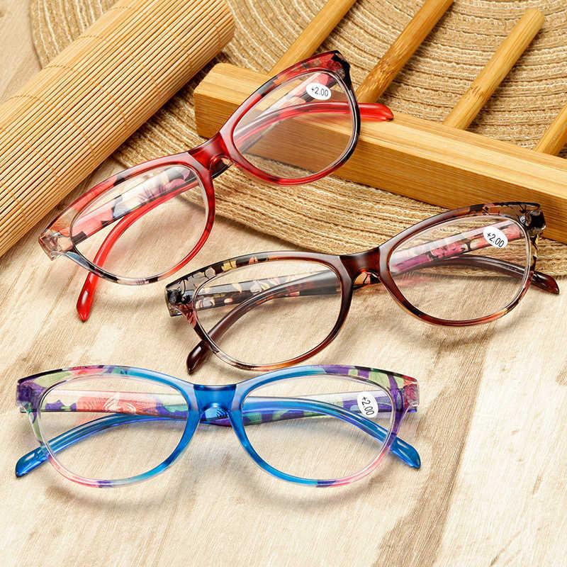 Elbru Mata Kucing Kacamata dan Wanita Presbyopic Membaca Kacamata 1.0 1.5 2.0 2.5 3.0 3.5 4.0 Presbyopia Kacamata