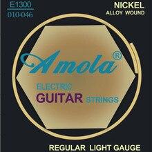 Frete Grátis Elixir 12077 Nanoweb .010-.052 cordas da guitarra Elétrica Super Luz instrumento musical guitarra partes atacado