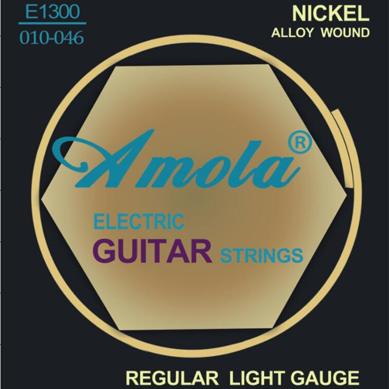 original amola e1300 010 046 electric guitar strings nickel guitar accessories wholesale. Black Bedroom Furniture Sets. Home Design Ideas