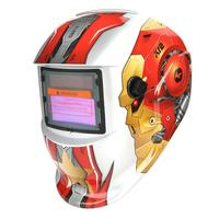 Robot Head Solar Auto Darkening Adjustable Range DIN 4/9 13 Welding Helmet Mask