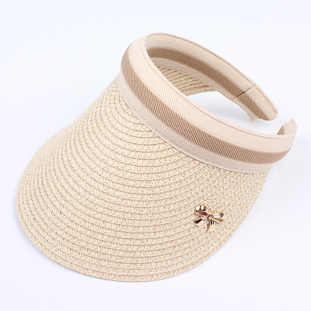 Summer Casual Empty Top Straw Hat for Women