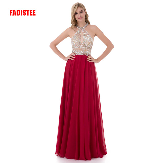 FADISTEE New arrive party prom dress Vestido de Festa luxury beading high- neck long gown dresses style formal evening frock 21765463cde1