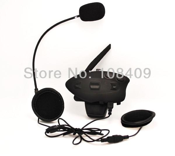 ФОТО 1 x 500M Waterproof Wireless BT Bluetooth Interphone Intercom Supporting Bluetooth Helmets Music for Motorbike Free Shipping!