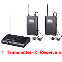 Takstar WPM-200/WPM 200 Sistema de Monitor Inalámbrico En La Oreja Los Auriculares Inalámbricos Estéreo sistema de monitores de Escenario 1 Transmisor 2 Receptores