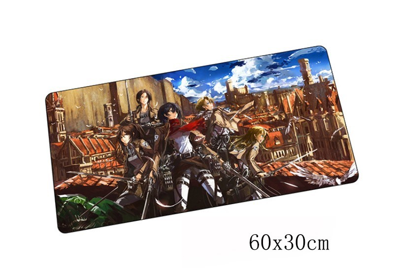 attack on titan padmouse 60x30cm pad to mouse notbook computer mousepad best seller gaming mouse pad gamer to laptop mouse mat