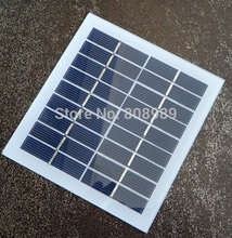 Wholesale 2Watt 9V Solar Cell Glass Laminated Polycrystalline Solar Panel Solar Module DIY Solar Charger 135*125MM Free Shipping