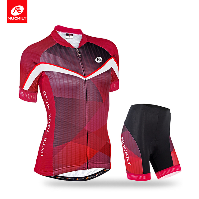 7f0053b19 NUCKILY Summer Women s 2018 Ladies Cycling Jersey And Short Set Elegance  New Design Cool Max Cycle Clothes GA012GB012