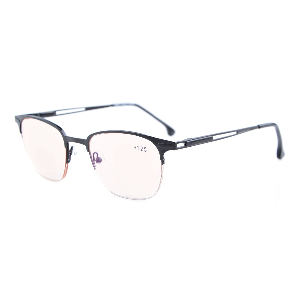 adcf8b4e9 Eyekepper CG1645 جودة الربيع يتوقف نصف-rim العنبر ملون الكمبيوتر القراءة  نظارات الرجال النساء