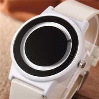 Heißer Verkauf Mode Kreative männer Uhr Männer Minimalistischen Uhr Männer Uhr Leder Band Männliche Uhr reloj hombre relogio masculino