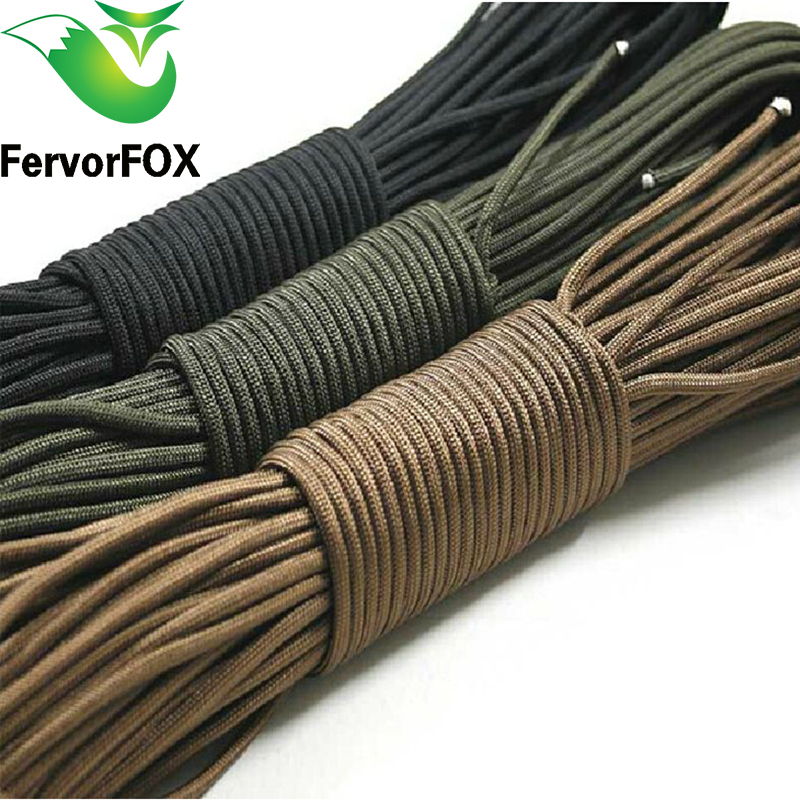 100FT(30 Meters) Dia. 2mm One Stand Cores Paracord For Cord Lanyard Camping Outdoor Climbing Camping Rope Hiking Clothesline
