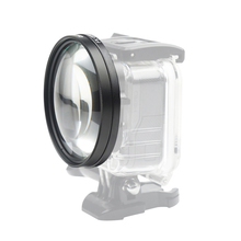 58mm Macro Lens 10x Magnification Close Up Lens for Gopro Hero 7 6 5 Black Waterproof Case Go Pro Kits for GoPro Accessory цена и фото
