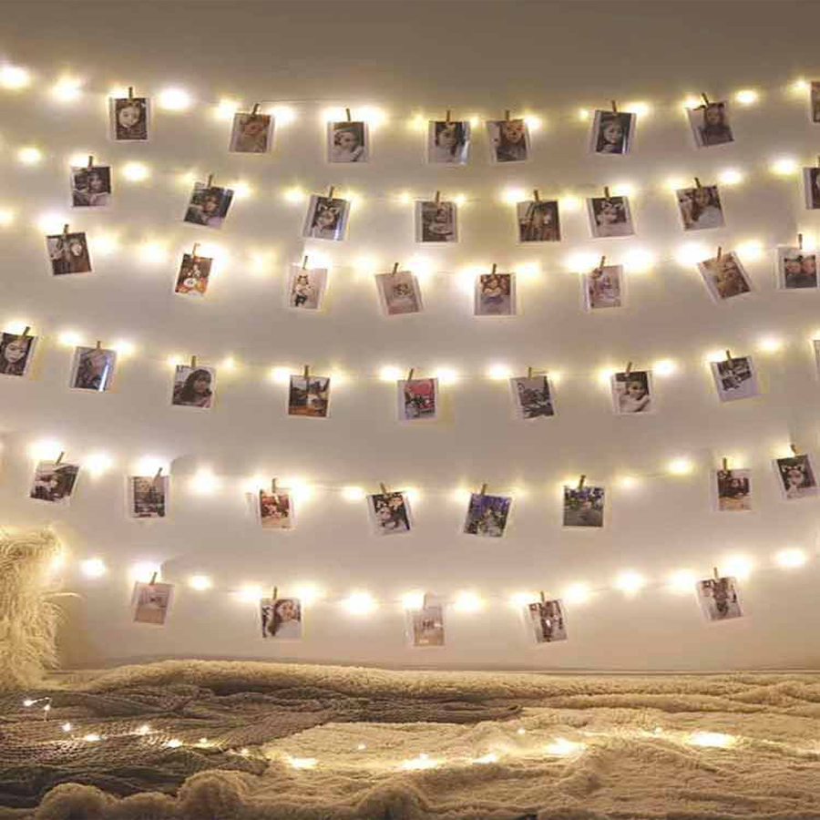 BEKCMTH Copper Wire LED Lights Garland Led String Lamp Waterproof Holiday Lighting Fairy Lights Christmas Garland For New Year