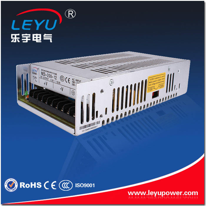 CE ROHS Chinese supplier NES-200-27 AC DC single output led lighting switching power supply ce rohs ms 50 24v ac dc mini size single output switching power supply from chines supplier