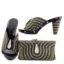 Size 37 to 43 hand made elegant rhinestones clutches bag matching shoes  slippers women fashion shoes 67eab9e7876f