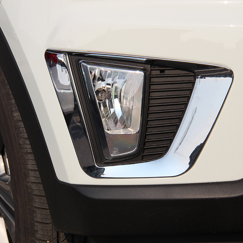 Livraison Gratuite Haute Qualité ABS Chrome Avant brouillard lampes couverture garniture abat-jour de brouillard garniture pour Hyundai ix25