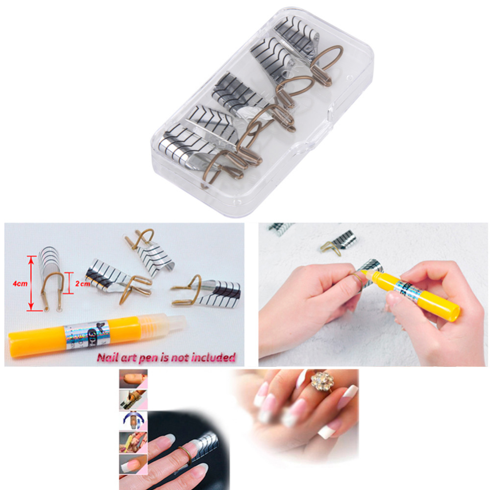 10pcs Reusable Nail Forms Uv Gel Extension Guide Adjule For Acrylic Art Nails Polish Curl Form Manicure In From Beauty