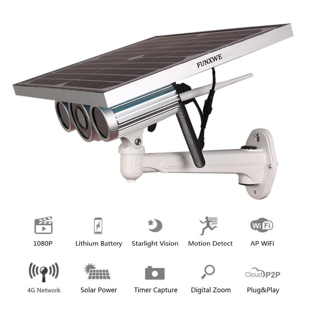 Funxwe 4g Lte Wireless Network 1080p Solar Power Battery