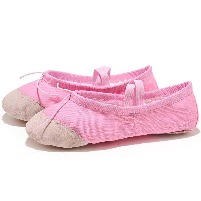 USHINE Yoga Gym flat slippers White Pink White Black Canvas Ballet Dance Shoes For Girls Children Women Teacher in Dance shoes from Sports Entertainment