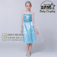 Age 3 13T Children S Princess Girl Dress Kids Anna Elsa Costumes Dress The Snow Queen
