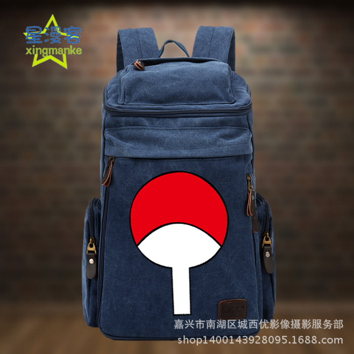 Anime Backpack Naruto COSPLAY Creative Simple Casual Fashion Retro College Style Men&Women Canvas Backpack 10pcs slide type switch module 1 bit 2 54mm 1 position way dip red pitch
