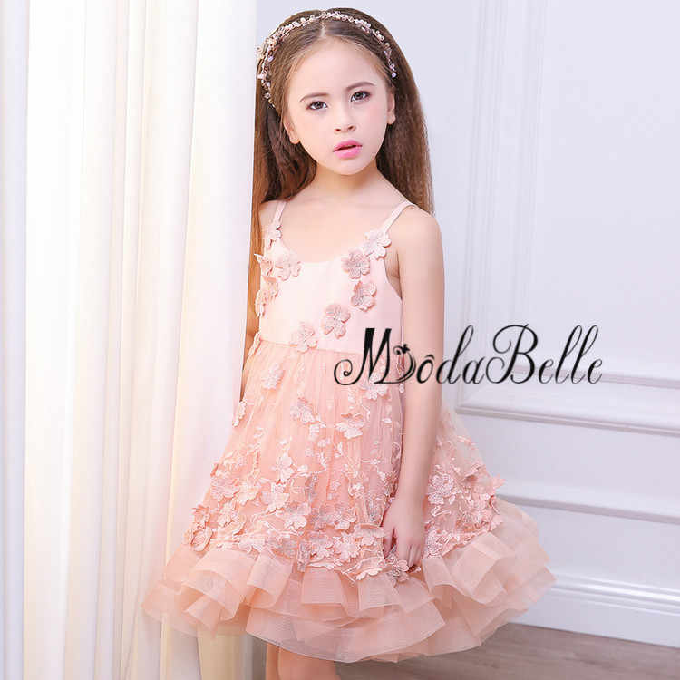... modabelle Blush Pink Flower Girl Dress Floral Baby Christmas Ball Gowns  Kids Glitz Puffy Pageant Dresses ... 438e00e659e2