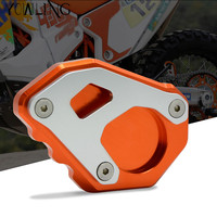 Orange CNC Aluminum Motorcycle Kickstand Side Stand Enlarge For KTM 1050 1090 1190 1290 Adventure 1290