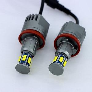 Image 5 - 1 Set 2*120 واط 240 واط H8 مصابيح LED عيون ماركر XTE 4800LM الأبيض 6500 كيلو لسيارات BMW E90 E92 X5 E71 X6 E82 M3 E60 E70 الأبيض 12 فولت