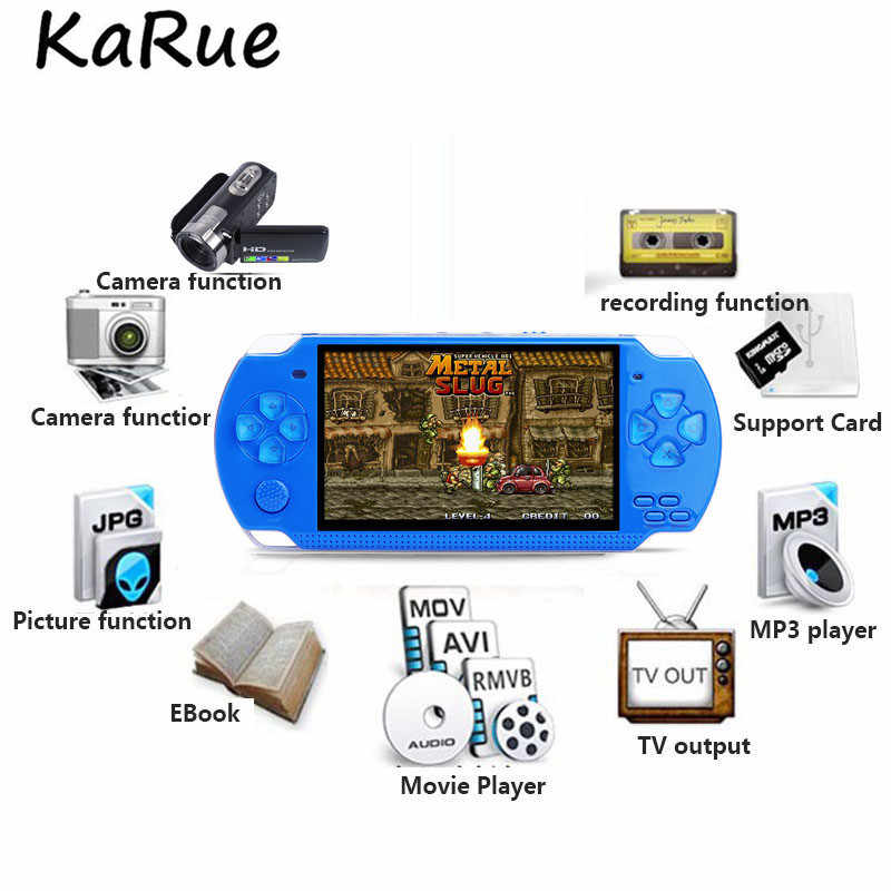 KaRue 4 3 Inch Ultra-Thin 8GB Memory handheld game player Video Game  Console MP5 Music Player Take pictures game console