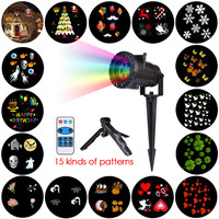 Chrismas Lights Waterproof LED Projector Remote Control Laser Fairy Light Projection Family Wedding Party Decoration