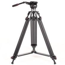 JIEYANG JY0508 JY-0508 5 KG Trípode de cámara Profesional trípode/Trípode De Video/Dslr Trípode VIDEO Fluido Cabeza de Amortiguación para vídeo