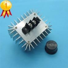 Высокой Мощности Электронный Регулятор Напряжения Переключатель 5000 Вт AC 220 В Регулятор SCR Затемнения Термостат Алюминиевого Сплава Охлаждения