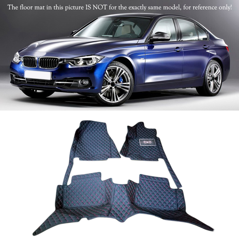 For BMW 3 Series F30 2013 2014 2015 2016 Interior Leather Carpet Floor Mat Car Foot Mat 1set Car Styling accessories! 10 16 for land rover discovery 4 l319 2010 2016 accessories interior leather carpets cover car foot mat floor pad 1set