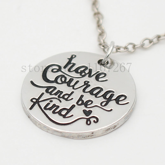 2017new hand stamped jewelry have courage and be kind 2017new hand stamped jewelry have courage and be kind inspirational pendant necklace quote jewelry aloadofball Images