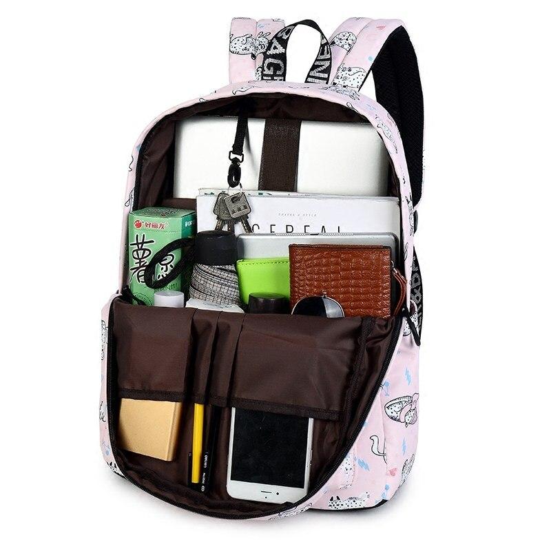 WINNER Cute Cat Print Backpack For Teenager Girls School Bag Female Travel Rucksack Laptop Mochila Escolar Feminina 2018