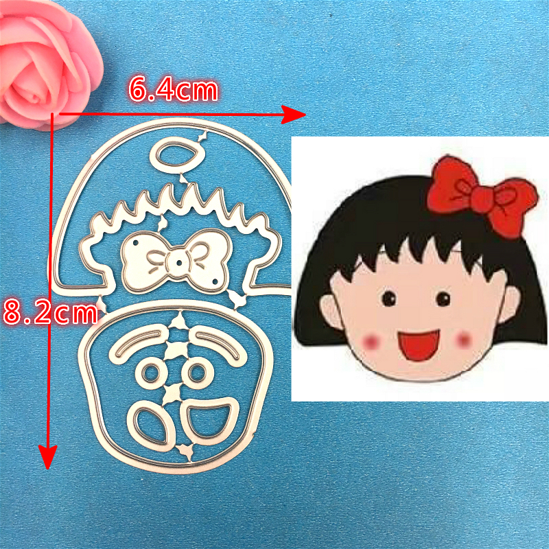 1PCS Cute Chibi Maruko chan metal cutting die 1PCS carft Tag embossing folder suit for Scrapbooking photo album DIY Paper Cards in Cutting Dies from Home Garden